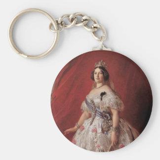 Queen Isabella II of Spain Basic Round Button Keychain