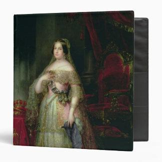 Queen Isabella II  of Spain 3 Ring Binder