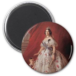 Queen Isabella II of Spain 2 Inch Round Magnet
