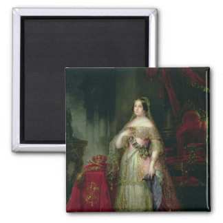 Queen Isabella II  of Spain 2 Inch Square Magnet