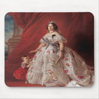 Queen Isabella II of Spain Mouse Pads