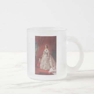 Queen Isabella II of Spain 10 Oz Frosted Glass Coffee Mug