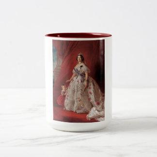 Queen Isabella II of Spain Two-Tone Coffee Mug