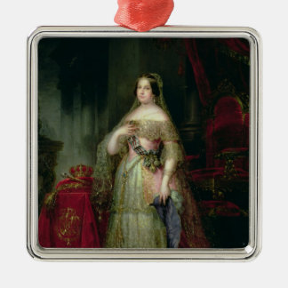 Queen Isabella II  of Spain Square Metal Christmas Ornament