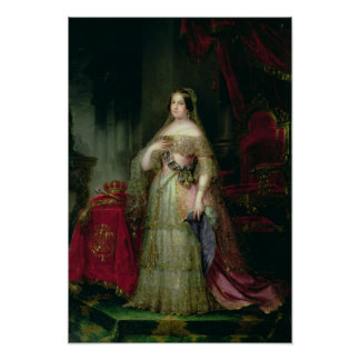 Queen Isabella II  of Spain Poster