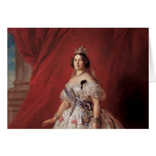 Queen Isabella II of Spain Stationery Note Card