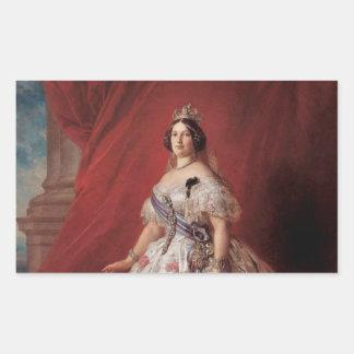 Queen Isabella II of Spain Rectangular Sticker