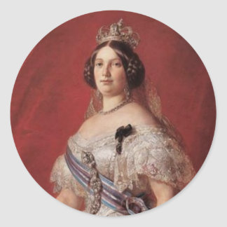 Queen Isabella II of Spain Classic Round Sticker