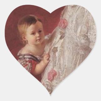 Queen Isabella II of Spain Heart Sticker