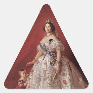 Queen Isabella II of Spain Triangle Sticker