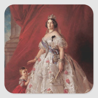 Queen Isabella II of Spain Square Sticker