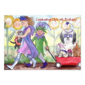 """Queen Isabella & Jester Todd Birthday Invitation 5"""" X 7"""" Invitation Card"""