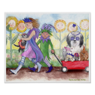 Queen Isabella & Jester Todd Print