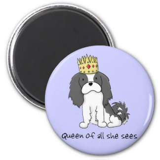 Queen Japanese Chin Magnet
