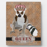 Queen Julian Copper Damask  Plaque