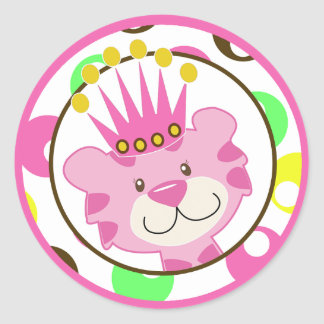 Queen Jungle Envelope Seals / Cupcake Toppers Round Stickers