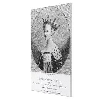 Queen Katherine  pub. in 1792 Canvas Print