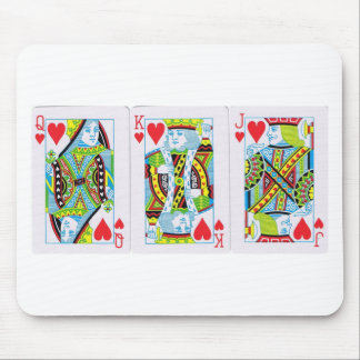 Queen,King,Jack of Hearts Mouse Pad