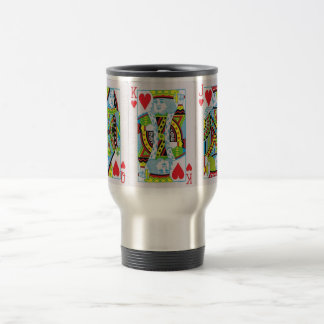 Queen,King,Jack of Hearts 15 Oz Stainless Steel Travel Mug