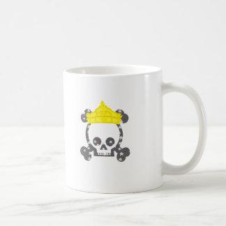 queen king skull coffee mug
