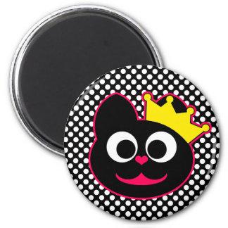 Queen Kitty 2 Inch Round Magnet