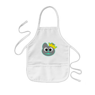 Queen Kitty Green - Gray Kids' Apron