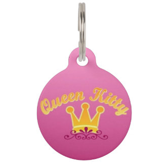Queen Kitty Pet ID Tag
