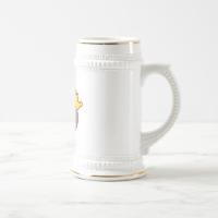 Queen Kitty Pink - Gray Coffee Mug