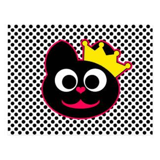 Queen Kitty Postcard
