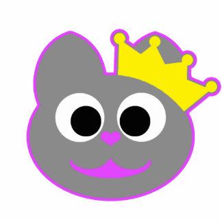 Queen Kitty Purple - Gray Statuette