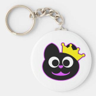 Queen Kitty Purple Keychain