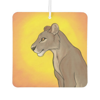 Queen Lioness Car Air Freshener