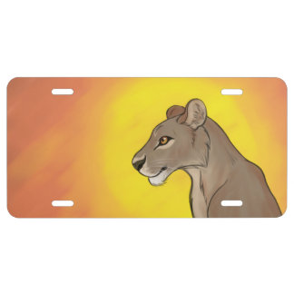 Queen Lioness License Plate
