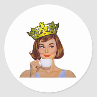 queen-logo-large round sticker