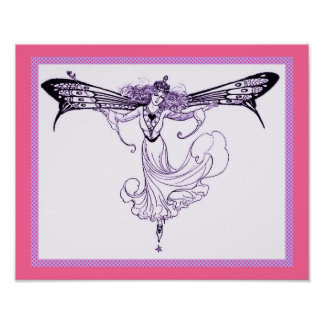 Queen Mab Butterfly Fairy Print