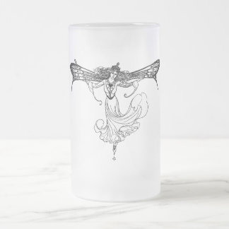 Queen Mab Frosted Glass Beer Mug