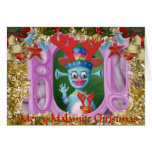 Queen Mabel & Cedric. Merry Christmas! Greeting Card