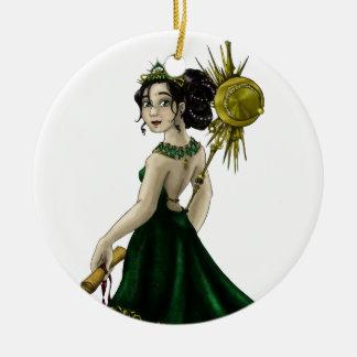 Queen Magnacious Ceramic Ornament