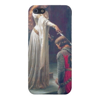 Queen man knighted antique painting iPhone 5 cases