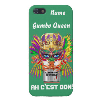 Queen Mardi Gras Gumbo View Hints please iPhone 5/5S Cases