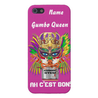 Queen Mardi Gras Gumbo View Hints please iPhone 5/5S Cover