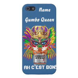 Queen Mardi Gras Gumbo View Hints please iPhone SE/5/5s Cover