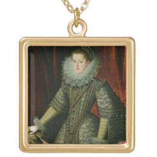 Queen Margarita of Austria, 1609 (oil on canvas) Gold Plated Necklace