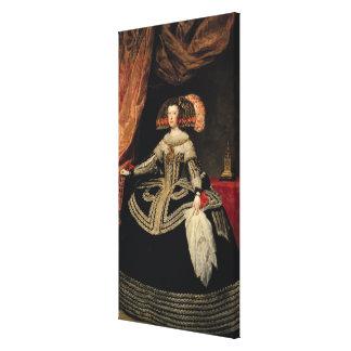 Queen Maria Anna  of Austria, 1652 Canvas Print