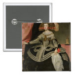 Queen Maria Anna of Austria , c. 1652 Pinback Button