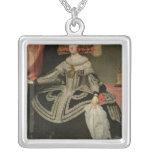 Queen Maria Anna of Austria , c. 1652 Square Pendant Necklace