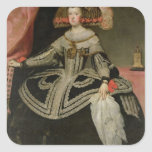 Queen Maria Anna of Austria , c. 1652 Square Sticker