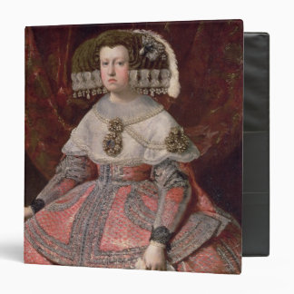 Queen Maria Anna of Spain in a red dress 3 Ring Binder