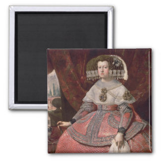 Queen Maria Anna of Spain in a red dress Magnet