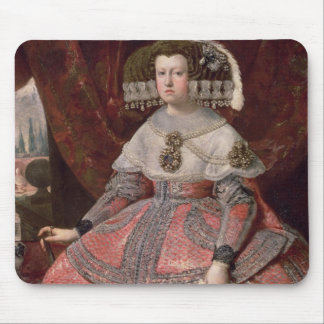 Queen Maria Anna of Spain in a red dress Mouse Pad